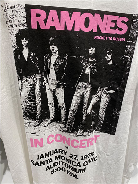 H&M Ramones Rocket-To-Russia T-Shirt Display