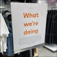 H&M What-We're-Doing Stay-Safe Sign