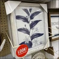 Framed Floral Art Frame Holder