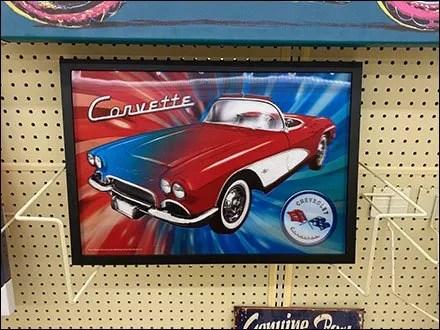 Full-Color Corvette Poster Rendering