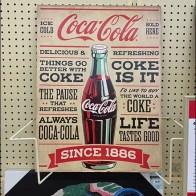 Vintage Coca-Cola Poster Frame Holder