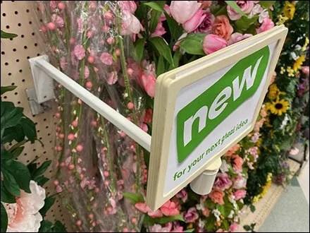 Pegboard-Mount Floral Sign Standoff