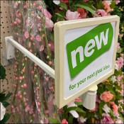 Floral Sign Standoff Backplate