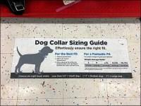 Petco Best Fit Collar Sizing Floor Graphic