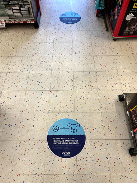 Petco Social-Distance Dogs-and-Cats Floor Graphic