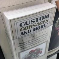 Custom Corsages Takeaway Brochure Holder