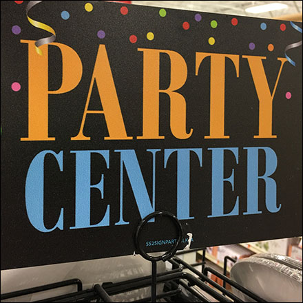 Freestanding Party-Center Spinner Display
