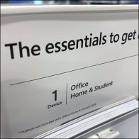 Microsoft-Office Essentials Countertop Display