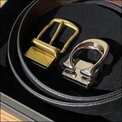 Coach Dual-Buckle Belt Tray Presentation