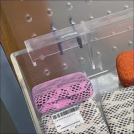 Acrylic-Pegboard Acrylic Tray Keepers
