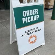 Field-&-Stream Order-Pickup Alternate Entrance Sign