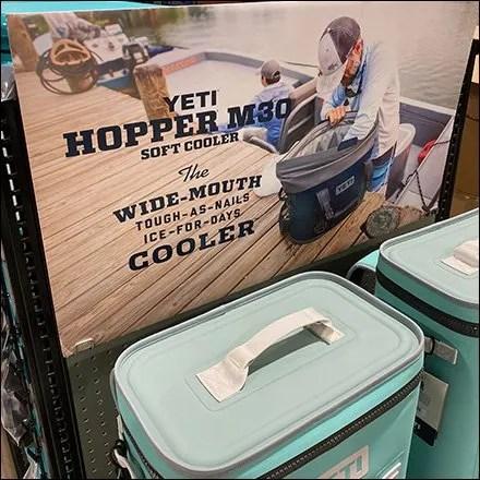 Yeti Hopper Soft-Sided Cooler Merchandising