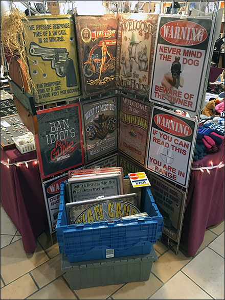 Firearms Warning Gridwall Merchandising
