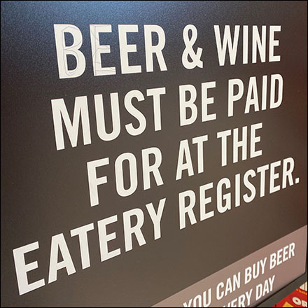Beer and Wine Eatery Sign