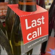 Last-Call Wine Bottle Neck-Flags