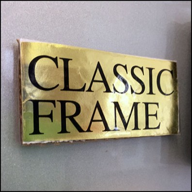 Magnetic Frame Classification Sign