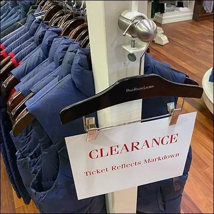 Polo-Ralph-Lauren Clothes-Hanger Clearance Sign