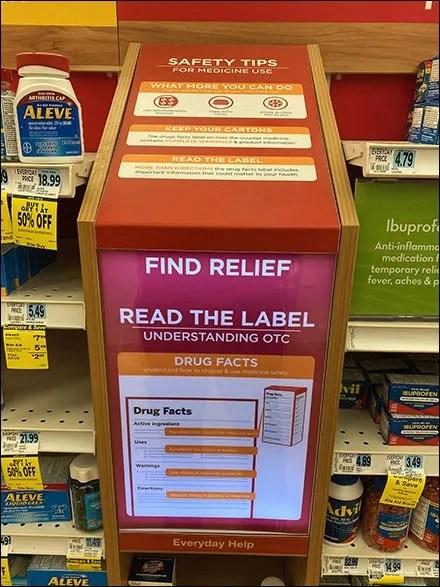 Inline Safety-Tips Medicine Display