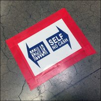 Regular vs Self-Checkout Direction Floor Graphics