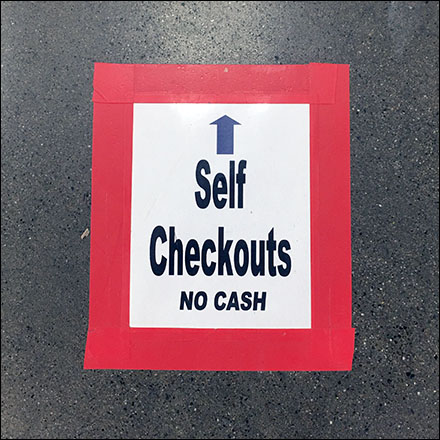 Self-Checkout Straight-Ahead Floor Graphic