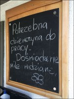 Solomia Permanent Chalkboard Temporary Merchandising