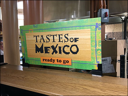 Magnetic Grab-And-Go Mexican Food Sign