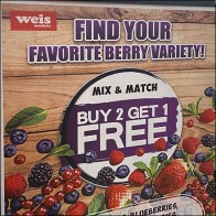 Find-Your-Favorite-Berry Freestanding Sign