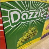 Razzle-Dazzle Grape Merchandising Display