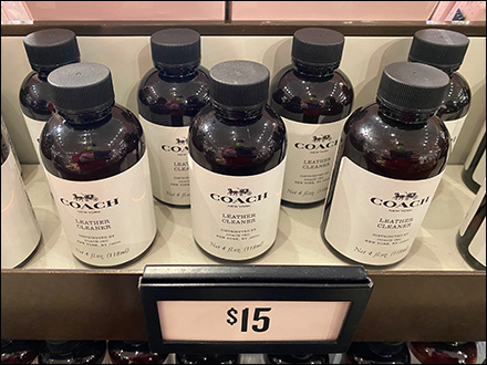 Coach Leather-Cleaner Table-Top Display