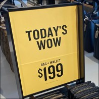 Coach Today's-Wow Table-Top Sign