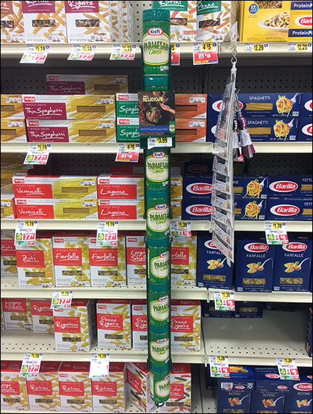 Gravity-Feed Shelf-Edge Parmesan Merchandiser