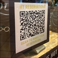 Hot-Topic Reservations By QR-Code Cling