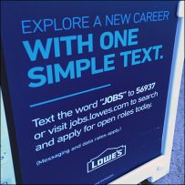 Lowes Hiring Outdoor Sidewalk Sign