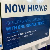 Lowes Hiring Service Counter SignLowes Hiring Service Counter Sign