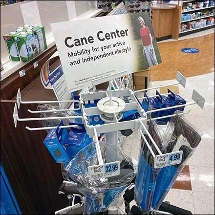 Cane-Center Flat Bar Merchandising