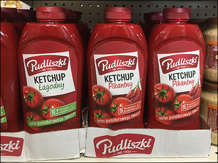 Ethnic Polish Ketchup Merchandising