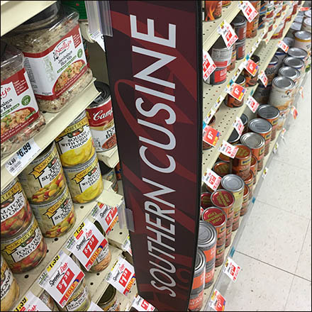 Southern Cuisine Category Definition Sign