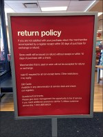Store Entry Return Policy Sign Stand
