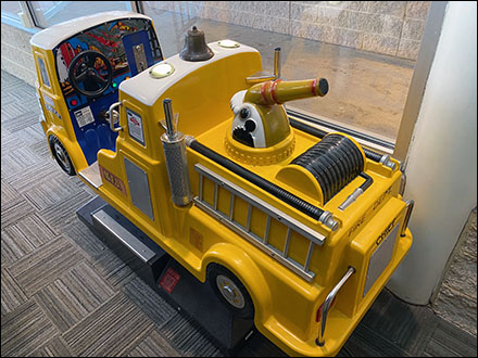 Coin-Operated Kiddie Fire-Truck Ride