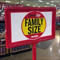 Family-Size Brownies and Cookies Sign