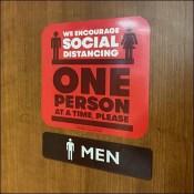 One-Person Restroom Social-Distancing PolicyOne-Person Restroom Social-Distancing Policy