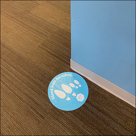 Woman-and-Child Social-Distancing Floor Graphic