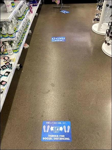5-Is-Cool 6-Is-Best Distancing Floor-Graphic