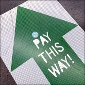 Checkout Pay-This-Way Directional Floor Graphic