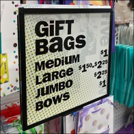 Gift-Bag Waterfall Pegboard Display