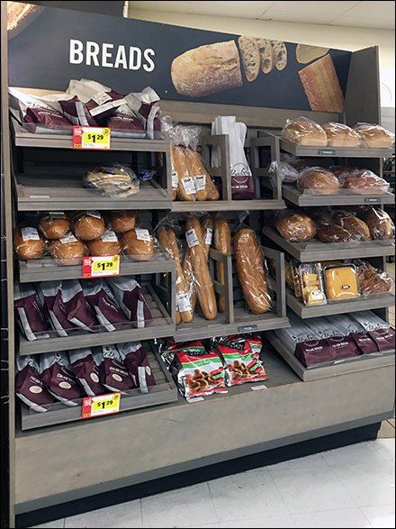 Inclined Perimeter Bread Rack Display