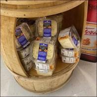 Parmesan Cheese Cutaway Barrel Display