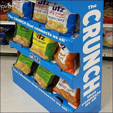 Utz Crunch Potato Chip Corrugated Display