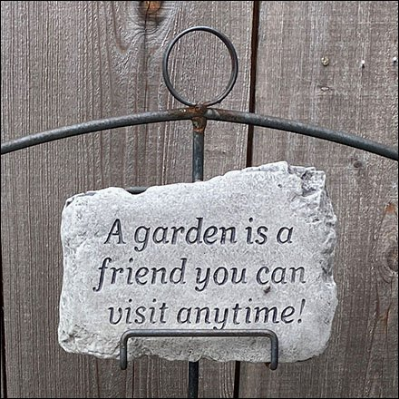 Engraved Garden Plaque Wire-Rack Display