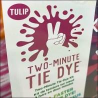 Michaels Two-Minute Tie Dye Merchandising